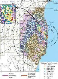 Fukushima Fallout Map by Land Surface Contamination By Radionuclides From The Fukushima