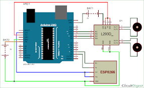 wi fi controlled mobile robot circuit diagram arduino