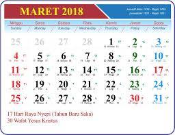 Kalender 2018 Hari Raya Nyepi Template Kalender 2018 Gratis Untuk Usaha Percetakan Anda