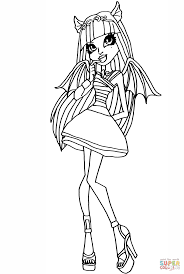 monster high rochelle coloring page free printable coloring pages
