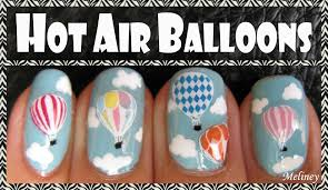 how to create stamping stickers air balloon nail art design