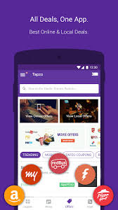 tapzo cabs food flight hotel recharge wallet android apps
