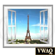 Peel And Stick Wall Decor by Eiffel Tower Wall Decal 3d Window Peel And Stick Wall Decal Paris