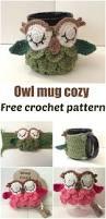 free crochet pattern for an owl mug cozy crochet patterns