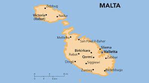 Malta World Map Mapa Turistico Malta Jpg