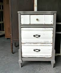 furniture revival featuring a two tone paint finish