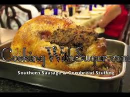 thanksgiving turkey southern sausage cornbread