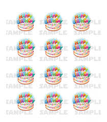 edible candles birthday candles edible photo cupcake or cookie toppers 12