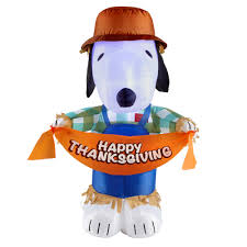 peanuts airblown inflatables 42 airblown thanksgiving snoopy with lights