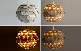 Paper Light Fixtures Marvelous Recycled Light Fixtures Glowing Artichoke Lamps Made