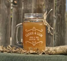jar wedding rustic jar barn wedding decor rustic toasting glasses