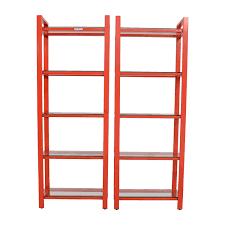 58 off crate and barrel crate u0026 barrel pilsen red bookshelves
