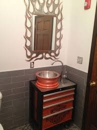 home interior decorating harley davidson bedroom decor harley bathroom this small bathroom is located in our basement off