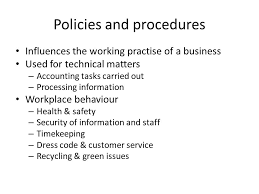 organisational policies and procedures what is the purpose of