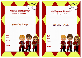 harry potter party invitations free printable birthday cards with