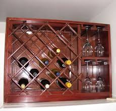 build a wine rack with built in wine glass storage