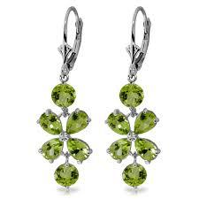 Peridot Chandelier Earrings 14k Solid Gold 4 95 Carat Natural Peridot Grape Earrings Wt 3 50g