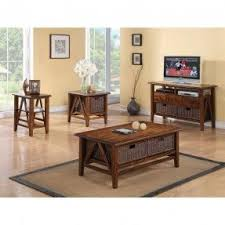 Oak And Glass Coffee Table Foter - Living room table set