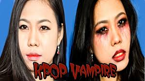 asian halloween makeup korea kpop vampire collab video with