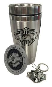 Wisconsin travel set images Harley davidson bar shield auto travel set travel mug key jpg