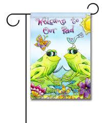 Decorative Garden Flags Welcome To Our Pad Garden Flag 12 5 U0027 U0027 X 18 U0027 U0027 Custom Printed