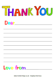 free printable thank you note paper for children search results