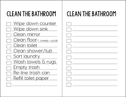 spring cleaning how to clean the bathroom with printable