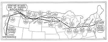Spokane Map Spokane Air Derbies A Big Hit In 1927 U2014 General Aviation News
