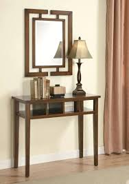 entry table with mirror above set lovely furniture mirrored foyer