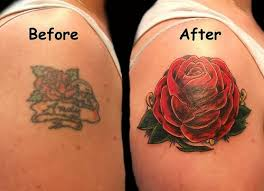 awesome red rose cover up shoulder tattoo job cover up tattoos