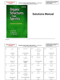 organic structures from spectra edition 4 solutions manual libre