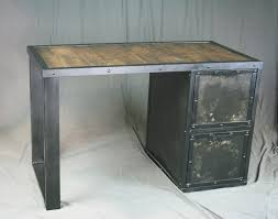 Reclaimed Wood File Cabinet Combine 9 Industrial Furniture Industrial Desk With File Cabinet