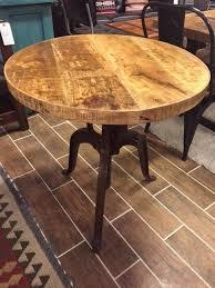 Adjustable Bistro Table Distressed Industrial Crank Bistro Table With Adjustable Height 30