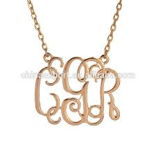 cheap monogram necklace buy cheap china sterling silver monogram necklace products find