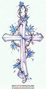 cross tattoo with flowers and butterflies tattoos pinterest
