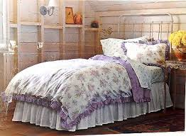 simply shabby chic duvet cover set 2pc purple lilac white floral