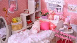 Pink Bedroom Diy Miniature Dollhouse Pink Bedroom Kit Youtube