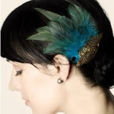 feather hair clip deco beaded applique and feather hair clip on tradesy
