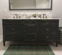 Distressed Bathroom Vanities Bathroom Vanity With Built In Pull Out Step Transitional Bathroom
