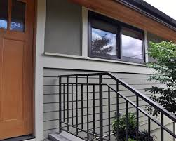 Steel Handrails For Steps Stairs And Railing Projects Ventana Construction Seattle Washington