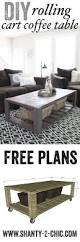 Wooden Coffee Table Plans Diy diy crate coffee table on wheels pallet wood crates and pallets