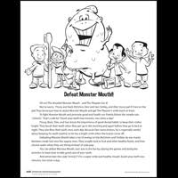 defeat monster mouth activity sheets american dental association