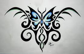 collection of 25 tribal butterfly on biceps