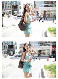 light blue tank dress female summer clothing fresh casual light blue tank dress with