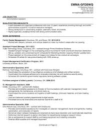 resume job objectives administrative assistant objective statement template design