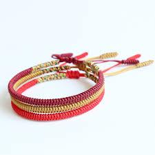 knot rope bracelet images Handmade tibetan buddhist braided bracelet lucky knot rope men jpg