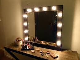 hardwired lighted makeup mirror 10x wall mirrors lighted vanity wall mirror style contemporary solid