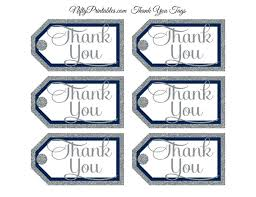 thank you tags navy silver thank you tags rect nifty printables