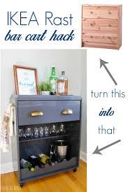 ikea rast hack a dresser becomes a bar cart