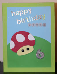 Homemade Card Ideas by Mario Birthday Card For 6 Year Old Boy Handmade Craft Ideas